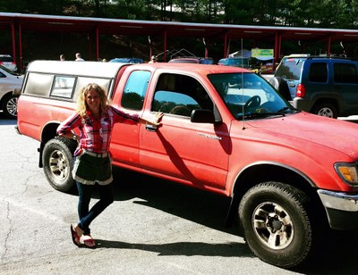 Amy and truck